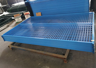 Galvanized Construction Fencing Powder Coated Movable Fence Blue Color